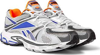 VETEMENTS + Reebok Runner 200 Rubber-trimmed Mesh Sneakers - Gray