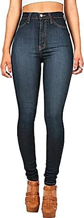 Damen Jogging Camouflage Hoch Taille Schlaghose HaremHosen Jeans Jeanshosen