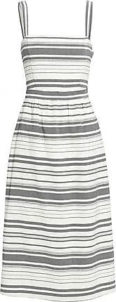 Joie Joie Woman Knotted Striped Cotton Midi Dress Beige Size 00