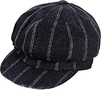 Schirmm/ützen Damen PU Leder Cap Flache Kappe Barette Baker Boy M/ütze Ballonm/ütze