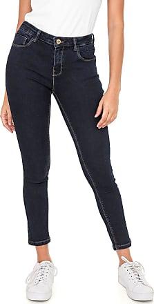 Only Calça Jeans Only Skinny Cropped Pespontos Azul
