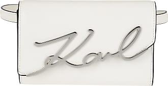 Karl Lagerfeld Signature Belt Bag White Gürteltasche weiß