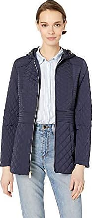 Jones New York Womens Quilted Jacket with Hood