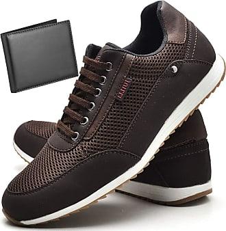 Juilli Sapatênis Sapato Casual Com Carteira Masculino JUILLI R1100DB Tamanho:42;cor:Marrom;gênero:Masculino