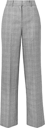 Equipment + Tabitha Simmons Hyperion Prince Of Wales Checked Voile Wide-leg Pants - Gray