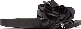 Paco Rabanne Sequinned Rubber Slides - Womens - Black
