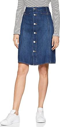 EDC by Esprit edc by ESPRIT Womens 029CC1D005 Skirt, (Blue Dark Wash 901), 8 (Size: 34)