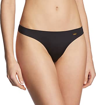 Ultimo Womens Bonded Thong Brief, Black, Size 10