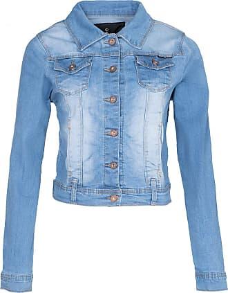 Noroze Women Basic Denim Cropped Jacket Stretch Vintage Wash Top (12, Vintage Wash Light Blue)
