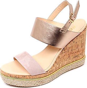 Hogan D0336 Sandalo Donna H324 Scarpa Zeppa sughero rosa rosa Platino Shoe  Woman  40 f0114dc8d4a