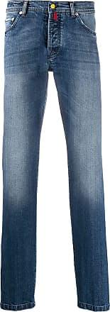 Kiton mid-rise slim fit jeans - Blue