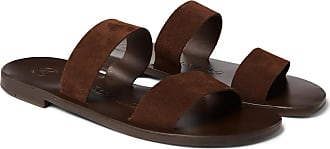 ÁLVARO GONZÁLEZ Alex Suede Sandals - Dark brown