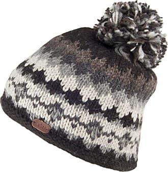 KuSan Short Bobble Hat - Black-Charcoal 1-Size