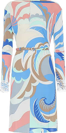 Emilio Pucci Embellished silk-blend dress