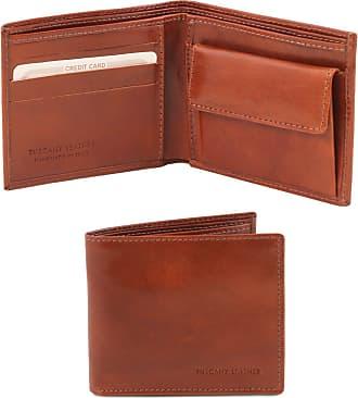 14e99c4635 Tuscany Leather Esclusivo portafoglio uomo in pelle 2 ante con  portaspiccioli Testa di