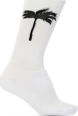 Palm Angels Embroidered Socks Mens White