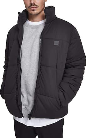 Urban Classics Mens Boxy Puffer Jacket, Black (Black 00007), Medium
