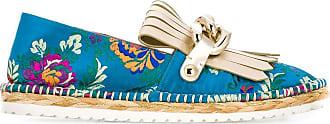 Casadei floral embroidered espadrilles - Azul