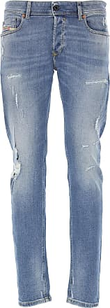 Diesel Jeans, Bluejeans, Denim Jeans für Herren Günstig im Outlet Sale, Denim Mittelblau, Baumwolle, 2019, 45 49 50