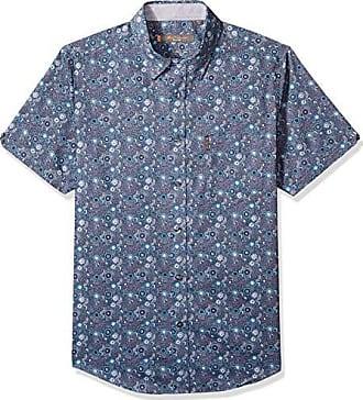 Ben Sherman Mens SS Tonal FLRL Print Shirt, Green XXL