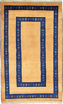 Nain Trading 134x84 Authentic Persian Gabbeh Loribaft Rug Beige/Dark Blue (Wool, Iran/Persia, Hand-Knotted)
