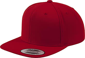 Yupoong Mens The Classic Premium Snapback Cap (One Size) (Red/Red)