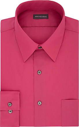 Van Heusen Mens Poplin Regular Fit Solid Point Collar Dress Shirt, Desert Rose, XXL (Neck 45 cm Sleeve 81/84 cm)