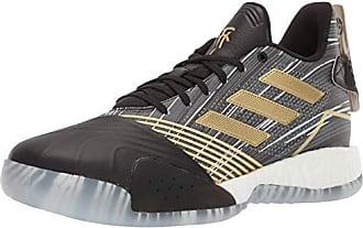adidas Mens TMAC Millennium Basketball Shoe, Black/Gold Metallic/Dark Heather Solid Grey, 11 M US