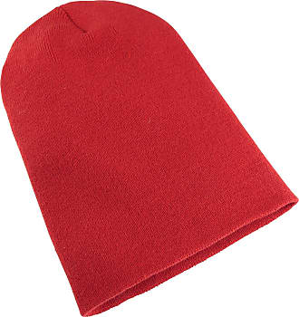 Yupoong Flexfit Unisex Heavyweight Long Beanie Winter Hat (One Size) (Red)