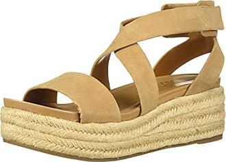 Franco Sarto Womens Tabatha Espadrille Wedge Sandal, Dark Camel, 8 M US