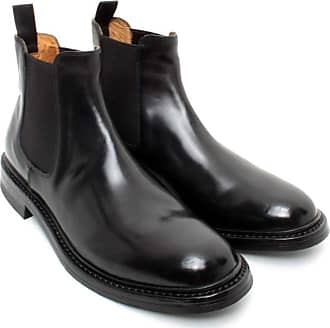 Officine Creative Mens Ankle Boots LEEDS/008 Canyon Leather Black