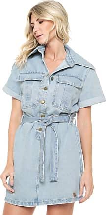 Lança Perfume Vestido Jeans Lança Perfume Curto Estonado Azul