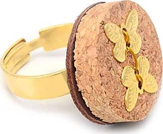 Tinna Jewelry Anel Dourado Borboletas