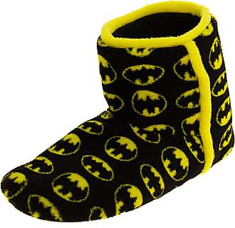 Footwear Studio Mens Gorgeous Batman Black Textile Fleece Warm Boot Slippers UK 12