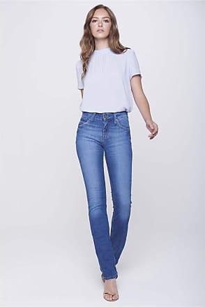 Damyller Calça Jeans Reta com Detalhe nos Bolsos Tam: 48 / Cor: BLUE