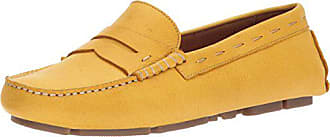 G.H. Bass & Co. Womens Patricia Driving Style Loafer, Yellow, 6.5 M US