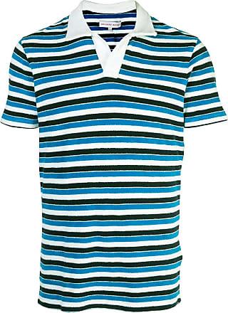 Orlebar Brown Camiseta Bahama listrada azul