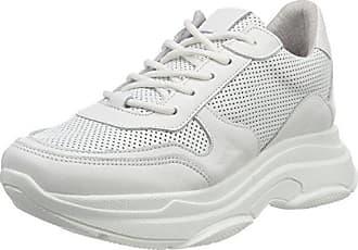 f00d0c1d84 Steve Madden Damen Zela-P Sneaker, Weiß (White Leather 107), 39