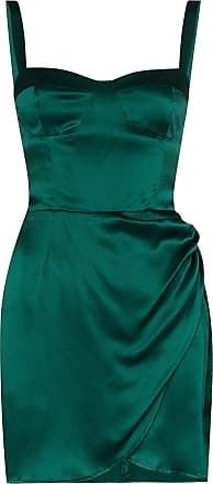 Reformation Vestido Fonda de seda - Verde