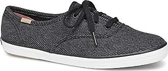 Keds Womens Champion Twill Stripe Jersey Sneaker,Charcoal,5.5 M US