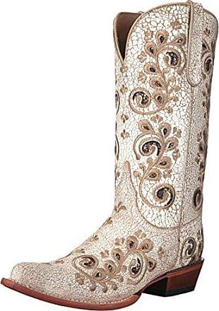 f255aaa7e Ferrini Womens Rockin Cowgirl Western Boot dist. White 9