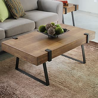 International Caravan Inc Hamburg Contemporary Coffee Table (Oak/Veneer/Wood - Oak - Assembly Required - Rectangle)
