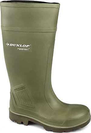 Green Dunlop Pull-On Self-Lined Wellingtons Size 39 40 41 42 43 44