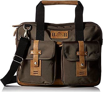 Buxton Mens Expedition Ii Trekker Laptop Brief, Olive