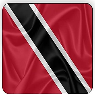 Rikki Knight Rikki Knight Trinidad and Tobago Flag Design Square Fridge Magnet