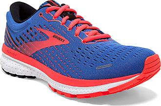 Brooks Womens Ghost 13 Running Shoe, Blue/Coral/White, 3.5 UK