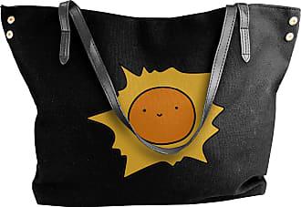 Juju Smiling Sun Womens Classic Shoulder Portable Big Tote Handbag Work Canvas Bags