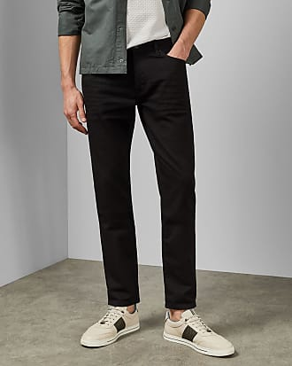Ted Baker Straight Fit Jeans in Black SHERIOS, Mens Clothing