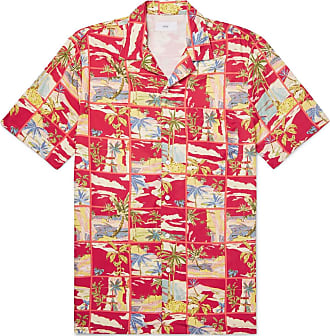 Onia Vacation Camp-collar Printed Woven Shirt - Red