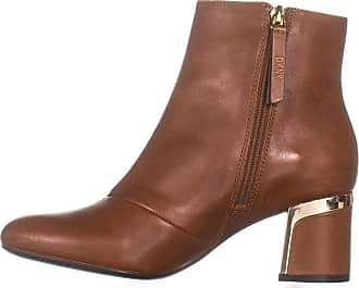 1880f5f4f9c DKNY Womens Corrie Leather Almond Toe Ankle Fashion Boots